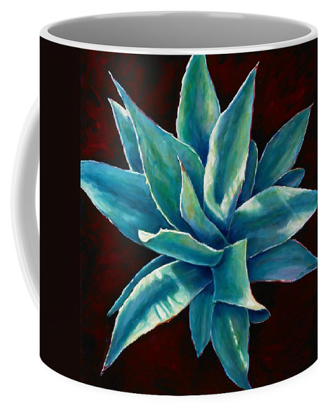 Agave Coffee Mug featuring the painting Simply Succulent by Shannon Grissom