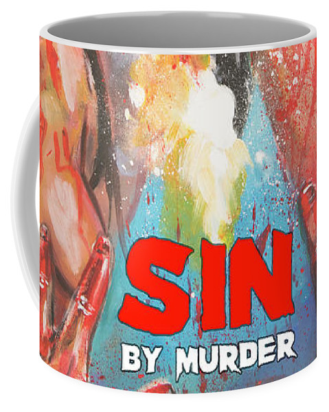 Movie Coffee Mug featuring the painting Sin By Murder Poster B by Mark Baranowski