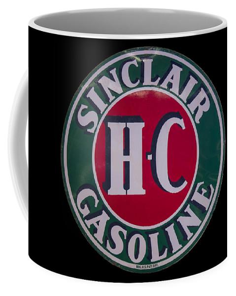 Sinclair Coffee Mug featuring the digital art Sinclair Gasoline Porcelain Sign by Chris Flees
