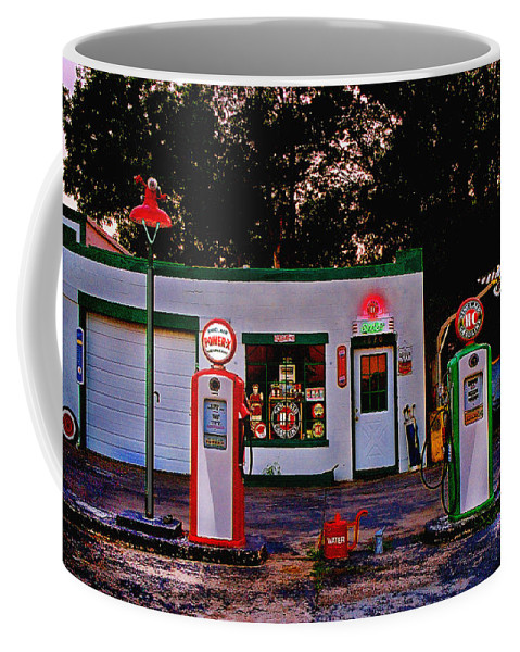 Gas Station Coffee Mug featuring the photograph Sinclair by Steve Karol