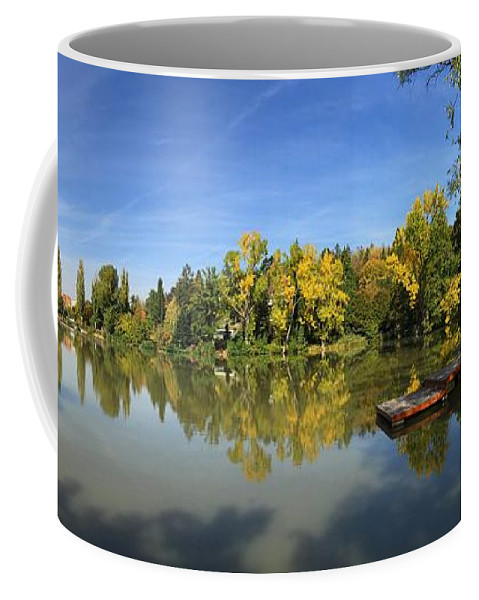 Sindelfingen Coffee Mug featuring the photograph Sindelfingen Germany Lake Klostersee Panorama by Matthias Hauser