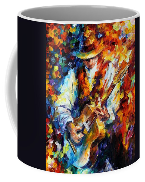 Afremov Coffee Mug featuring the painting Sing My Guitar by Leonid Afremov