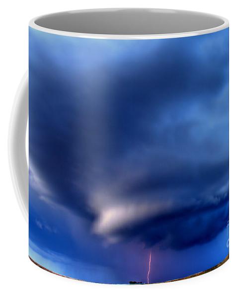 Lightening Strike Coffee Mug featuring the photograph Single Strike by James Anderson