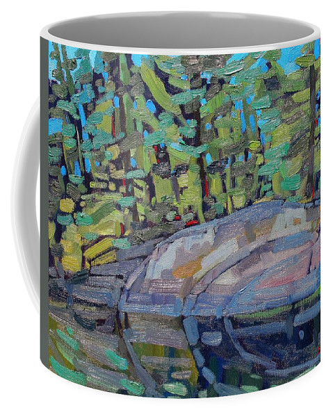 Marble Coffee Mug featuring the painting Singleton Granite by Phil Chadwick