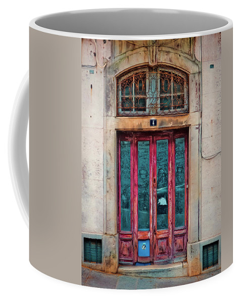 Portugal Coffee Mug featuring the photograph Sintra Door by Claude LeTien
