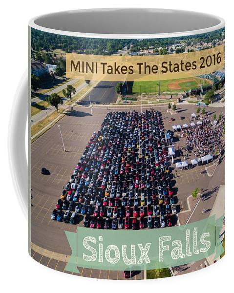 Mtts Coffee Mug featuring the photograph Sioux Falls Rise/shine 2 W/text by That MINI Show