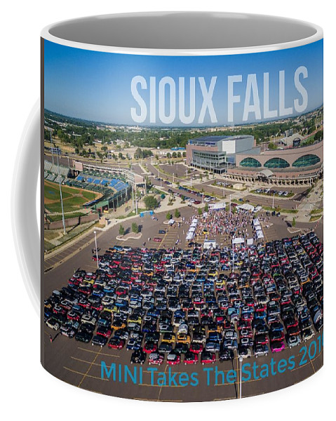 Mtts Coffee Mug featuring the photograph Sioux Falls Rise/shine 3 W/text by That MINI Show