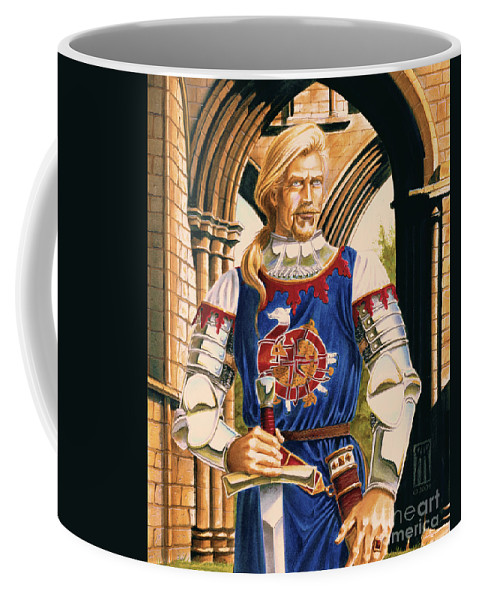Swords Coffee Mug featuring the painting Sir Dinadan by Melissa A Benson