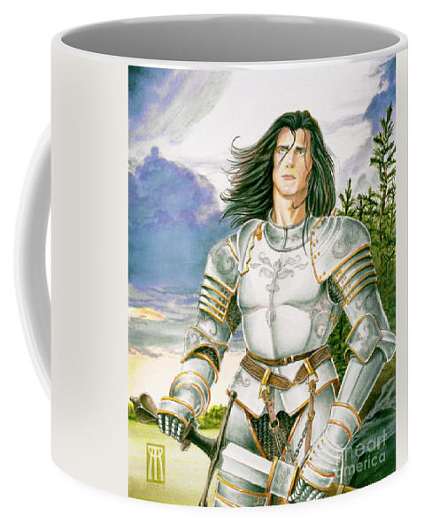 Swords Coffee Mug featuring the painting Sir Lancelot by Melissa A Benson