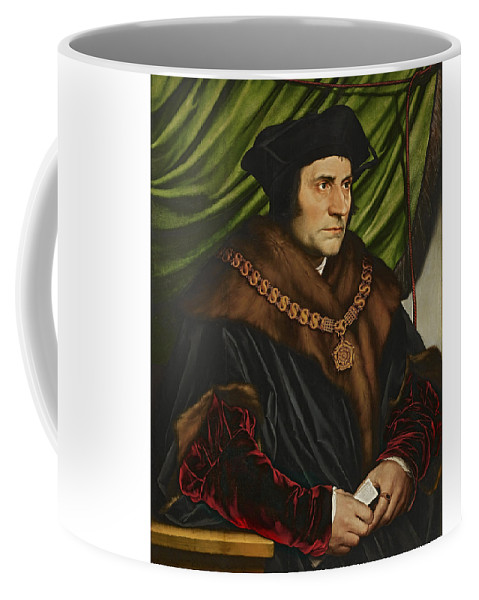 Thomas More Coffee Mug featuring the painting Sir Thomas More by War Is Hell Store