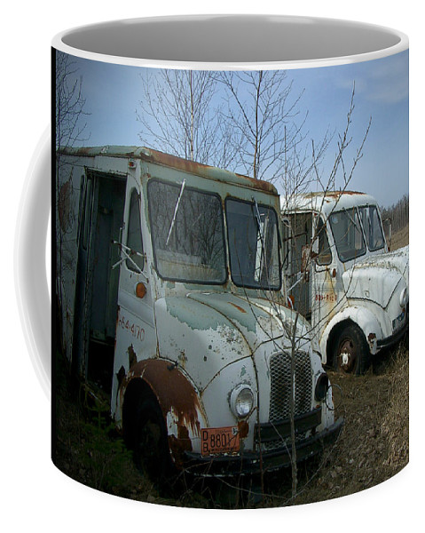 Trucks Coffee Mug featuring the photograph Sisters by Tim Nyberg