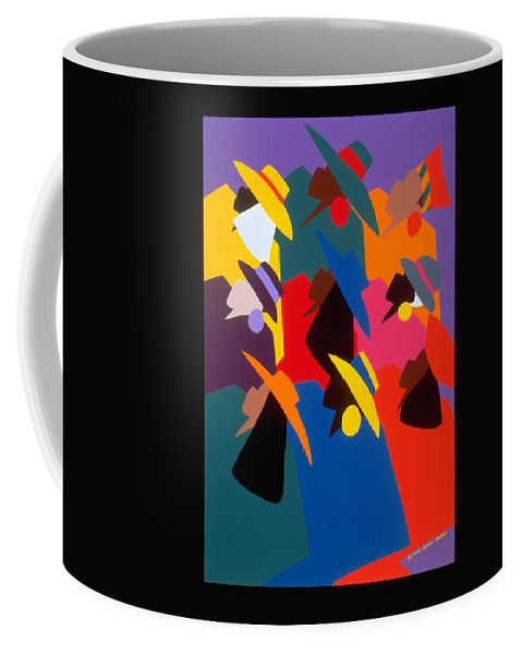 Figurative Coffee Mug featuring the painting Sisters Of Courage by Synthia SAINT JAMES