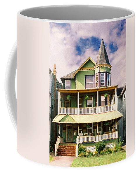 Archtiecture Coffee Mug featuring the photograph Sisters Panel 1 Of Triptych by Steve Karol