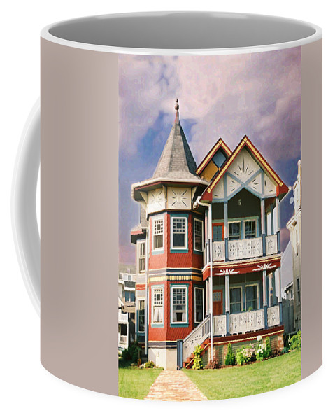 Landscape Coffee Mug featuring the photograph Sisters Panel Two Of Triptych by Steve Karol