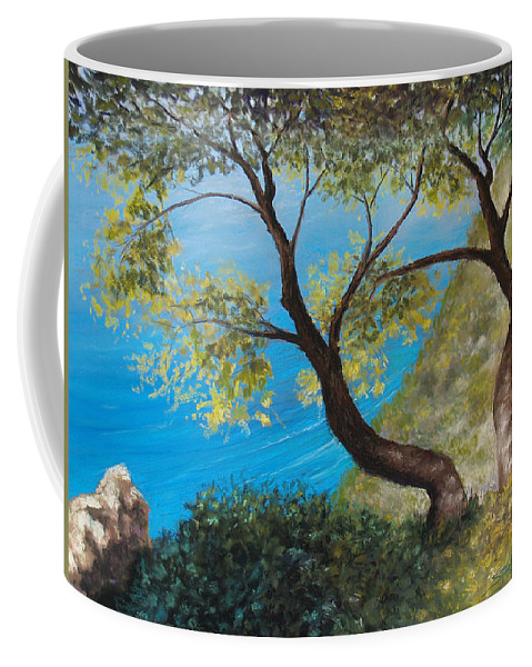 Trees Coffee Mug featuring the pastel Sisters by Susan Jenkins