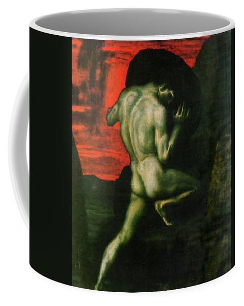 Franz Von Stuck Coffee Mug featuring the painting Sisyphus by Franz von Stuck