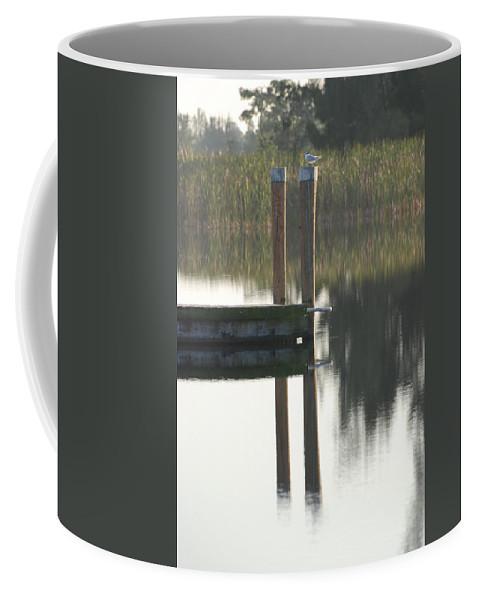 Grass Coffee Mug featuring the photograph Sitting Bird by Rob Hans