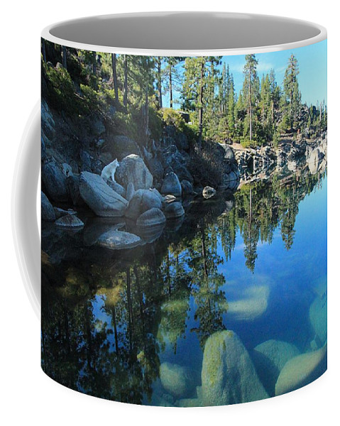 Lake Tahoe Coffee Mug featuring the photograph Sitting In Awe Of Her Surroundings by Sean Sarsfield