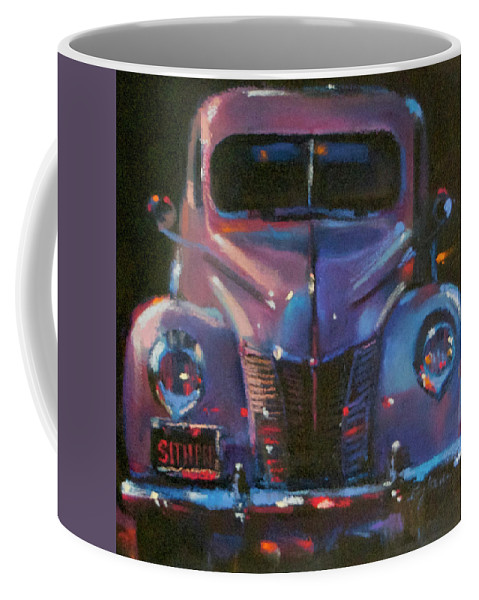 Classic Cars Coffee Mug featuring the painting Sitting Pretty by BJ Lane