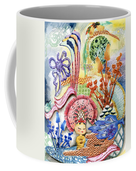 Bright Coffee Mug featuring the painting Sitting Pretty by Valerie Meotti