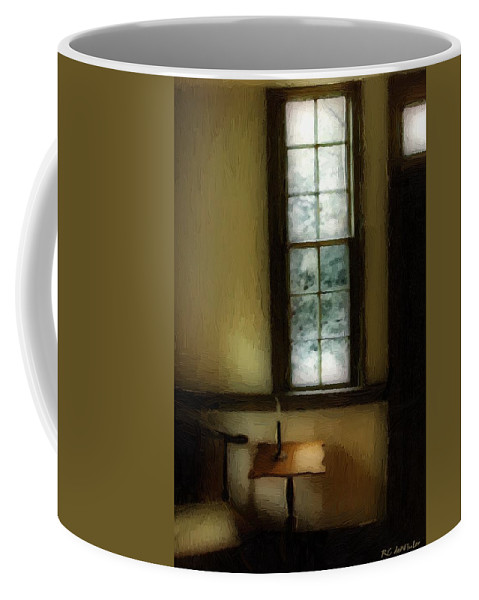 Antiques Coffee Mug featuring the painting Sitting Room Spring Rain by RC DeWinter