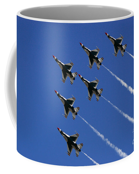 Air Force Coffee Mug featuring the photograph Six In Flight by Chandra Nyleen