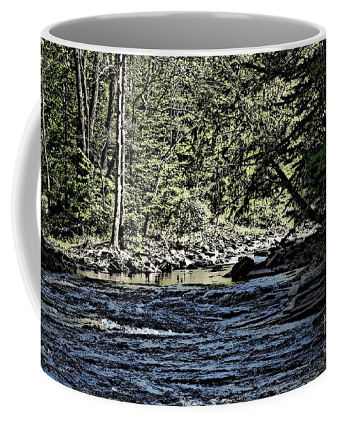 Landscape Coffee Mug featuring the photograph Six Mile Creek Ithaca Ny by David Lane