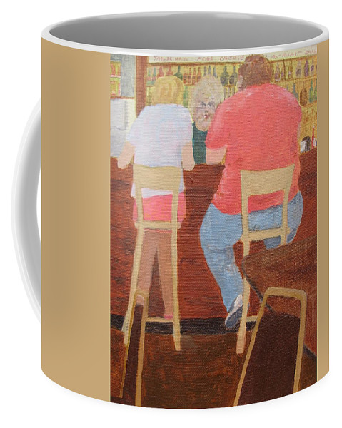 Rutt's Hut Coffee Mug featuring the painting Six Rippers by William Riley