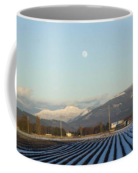 Moon Coffee Mug featuring the photograph Skagit Winter Moon by Louise Magno