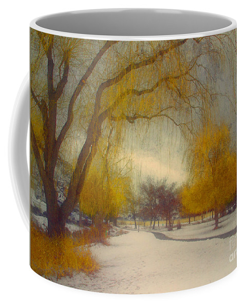 Path Coffee Mug featuring the photograph Skaha Path In Winter by Tara Turner