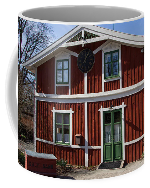 Skansen Coffee Mug featuring the photograph Skansen Building by Suzanne Luft