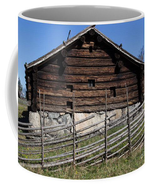 Skansen Coffee Mug featuring the photograph Skansen Cabin by Suzanne Luft