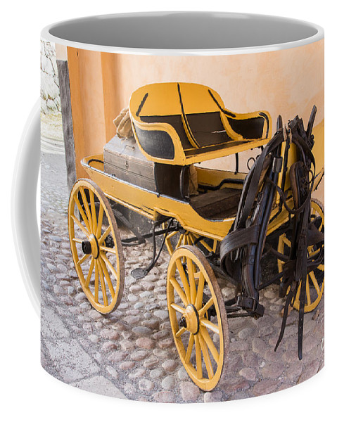 Skansen Coffee Mug featuring the photograph Skansen Carriage by Suzanne Luft