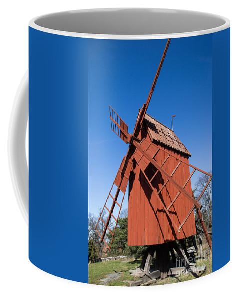 Skansen Coffee Mug featuring the photograph Skansen Windmill by Suzanne Luft