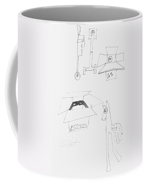 Sketch Coffee Mug featuring the painting Sketch Book Page by Charles Stuart