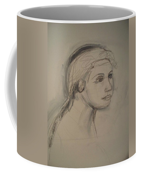 Sketch Coffee Mug featuring the painting Sketch For Painting by Eric Schiabor