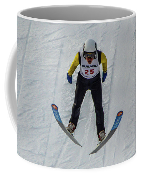 Ski Jumper Coffee Mug featuring the photograph Ski Jumper 3 by Tommy Anderson