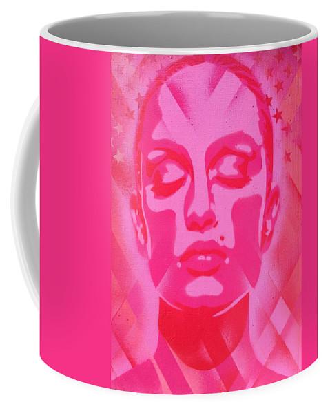 Woman Coffee Mug featuring the painting Skin Deep Series, Pinks by Leon Keay