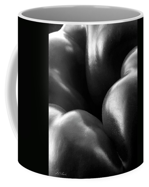 Black & White Coffee Mug featuring the photograph Skin by Frederic A Reinecke