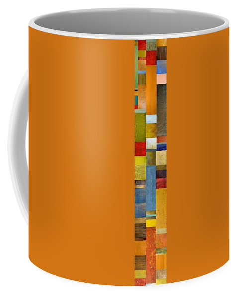 Skinny Coffee Mug featuring the painting Skinny Color Study Ll by Michelle Calkins