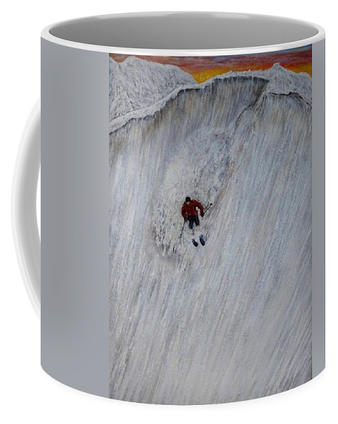 Landscape Coffee Mug featuring the painting Skitilthend by Michael Cuozzo