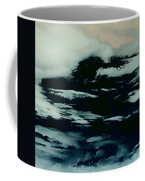 Clouds Sky Dark Coffee Mug featuring the photograph Sky 7 by Cindy New