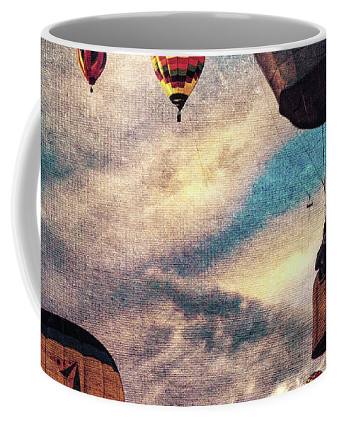Hot Air Balloon Coffee Mug featuring the photograph Sky Caravan Hot Air Balloons by Bob Orsillo