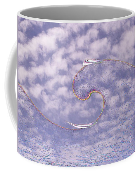 Sail Coffee Mug featuring the photograph Sky High Sail Surfin by Tim Allen
