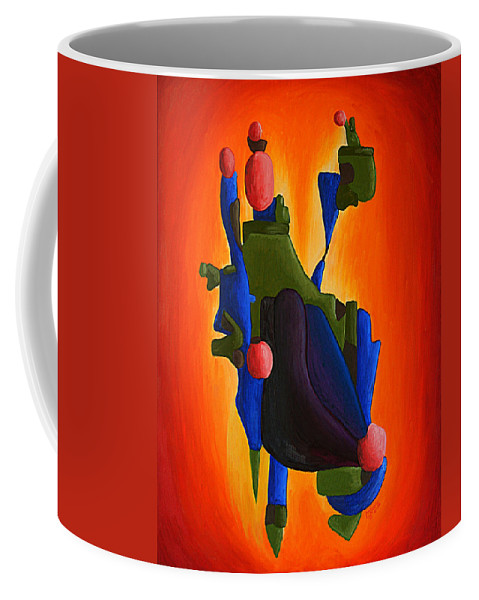Abstract Coffee Mug featuring the painting Sky Island by Michael C Crane