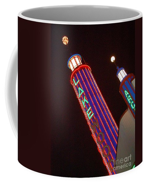 Neon Coffee Mug featuring the photograph Sky Lights by Debbi Granruth