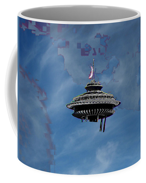 Seattle Coffee Mug featuring the photograph Sky Needle by Tim Allen