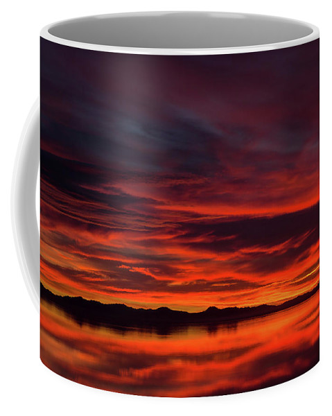 Antelope Island Coffee Mug featuring the photograph Sky On Fire by Adam Colick