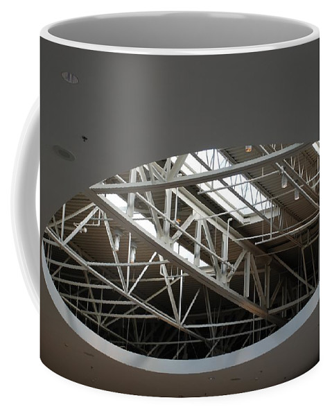 Ceiling Coffee Mug featuring the photograph Skylight Gurders by Rob Hans