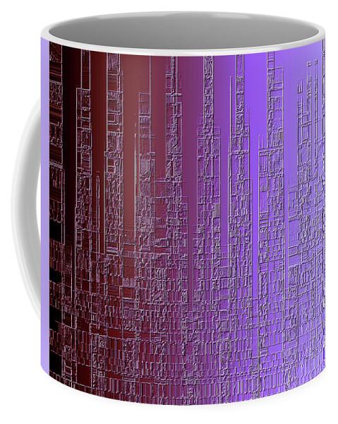 Skyline Coffee Mug featuring the painting Skyline 3 by Steve K